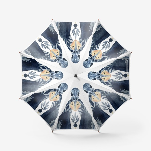 Зонт «Шаман-Ворон портрет»