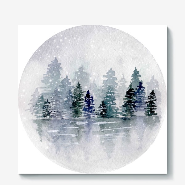 Холст «Зимний пейзаж»