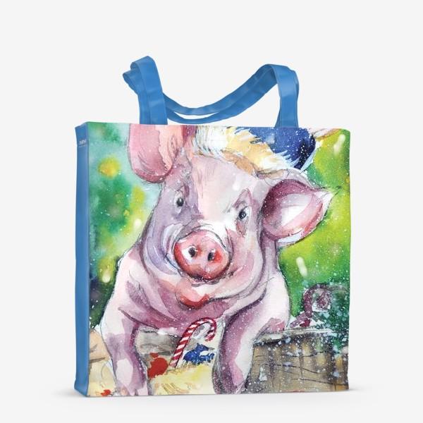 Сумка-шоппер «Свинка в Новый год»