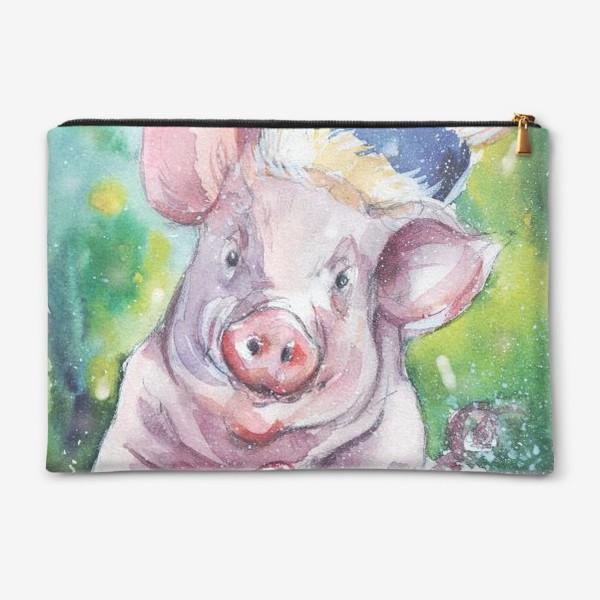 Косметичка «Свинка в Новый год»