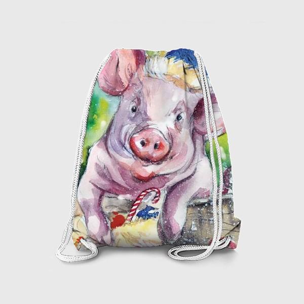 Рюкзак «Свинка в Новый год»