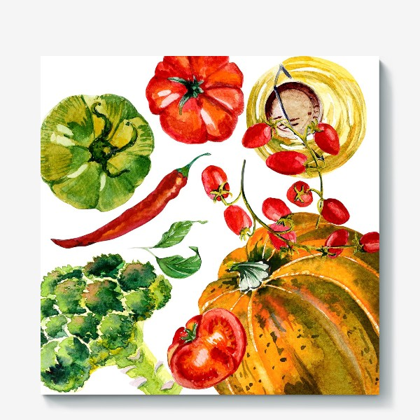 Холст «овощной микс»