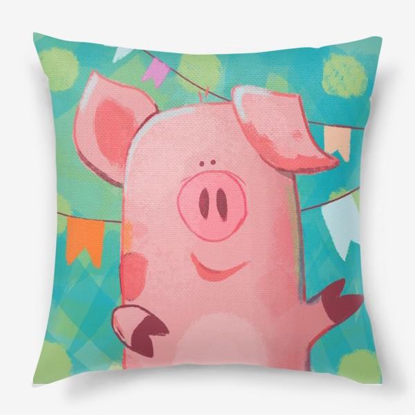 Подушка «pig's dancing»