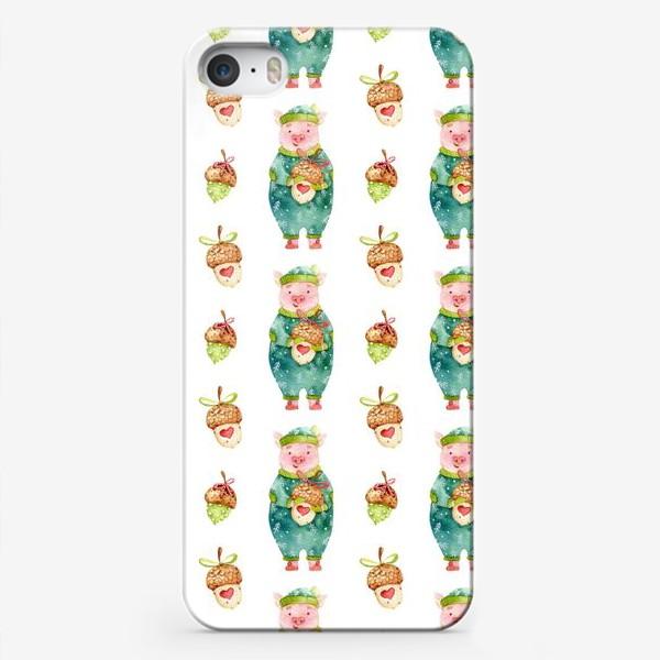 Чехол iPhone «Поросенок и Желуди»