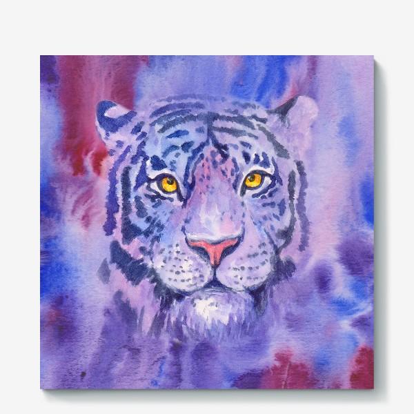 Холст «Сиреневый тигр»
