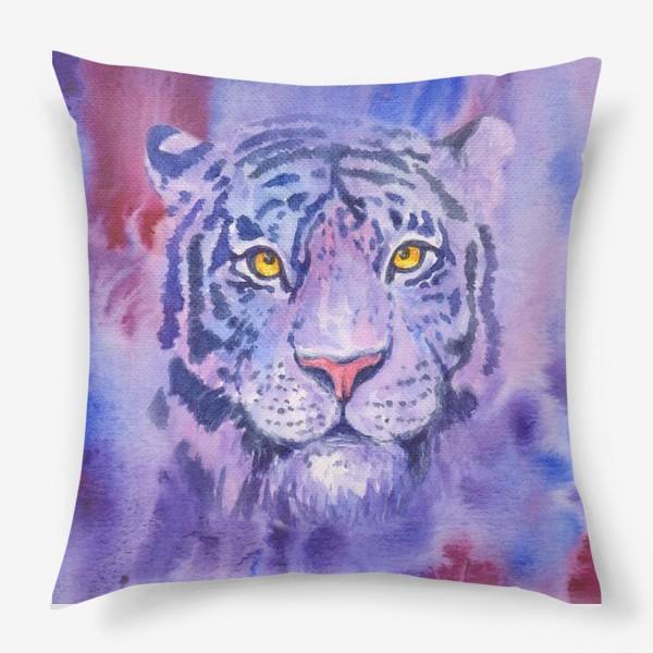 Подушка «Сиреневый тигр»
