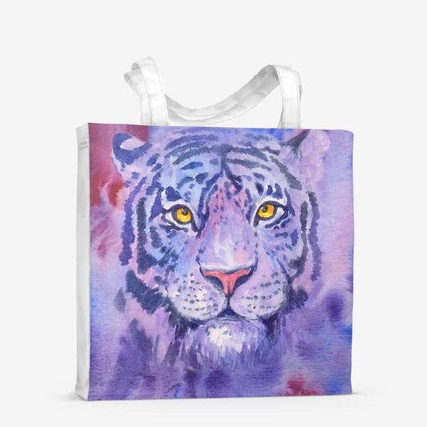 Сумка-шоппер «Сиреневый тигр»