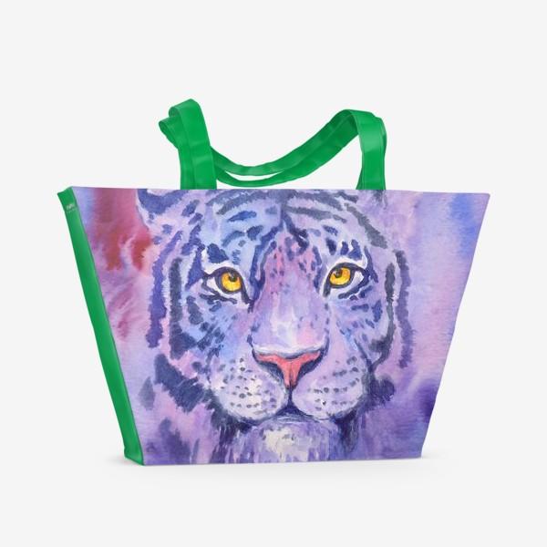 Пляжная сумка «Сиреневый тигр»