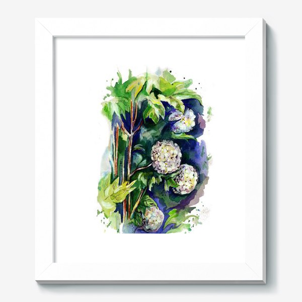 Картина «Цветы калины»