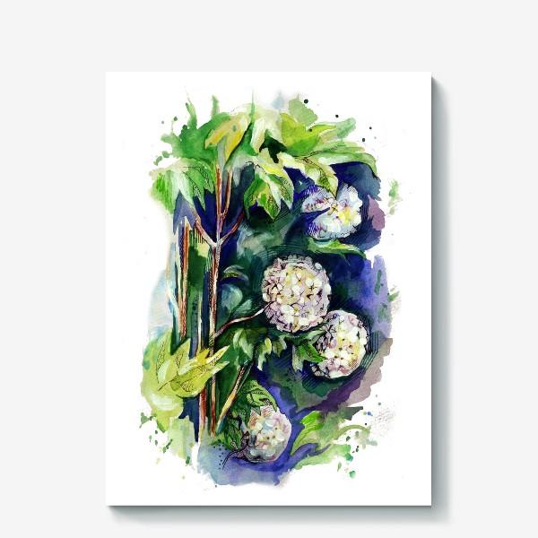 Холст «Цветы калины»