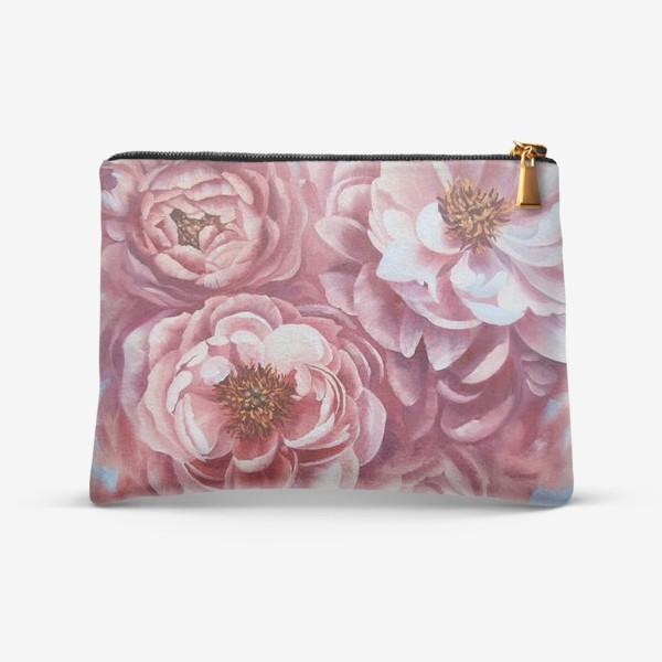 Косметичка «Вихрь розовых пионов.»