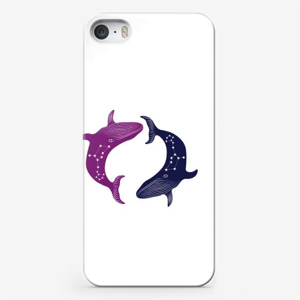 Чехол iPhone «ying yang whales»