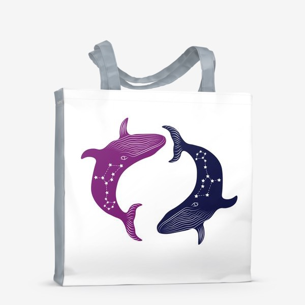 Сумка-шоппер «ying yang whales»