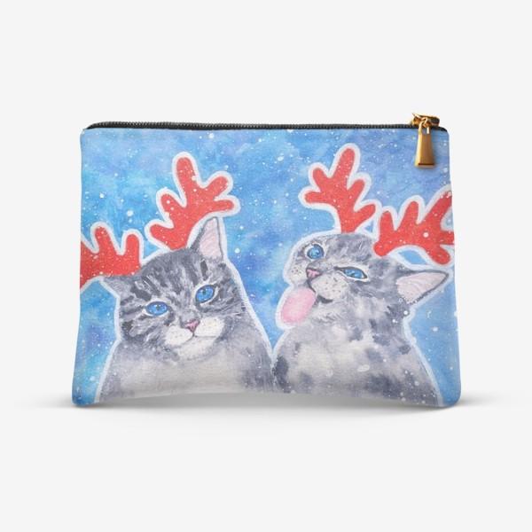 Косметичка «Новогодние котики»
