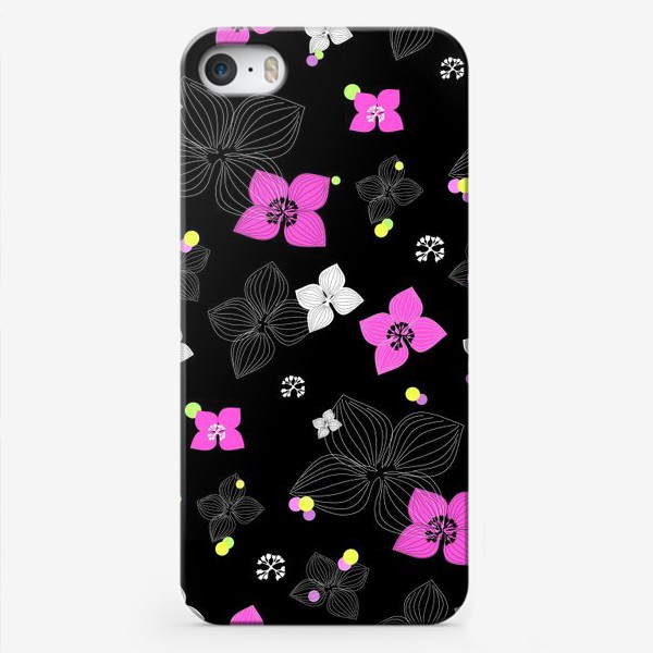 Чехол iPhone «Pink and Black»