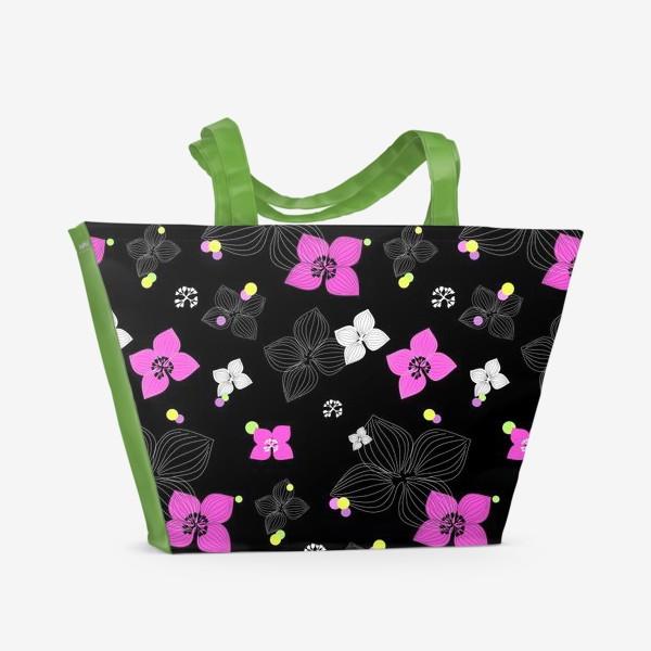 Пляжная сумка «Pink and Black»