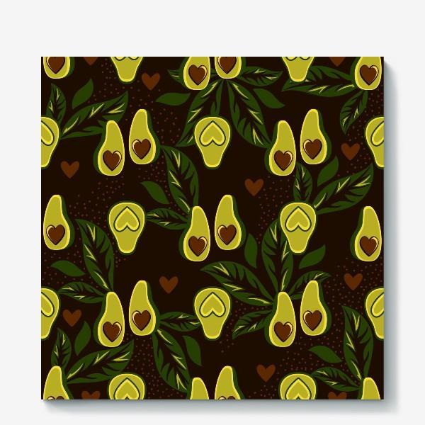 Холст «Авокадо это любовь»