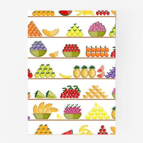 Постер «Fruits seamless»