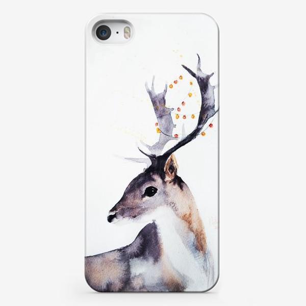 Чехол iPhone «Новогодний олень»