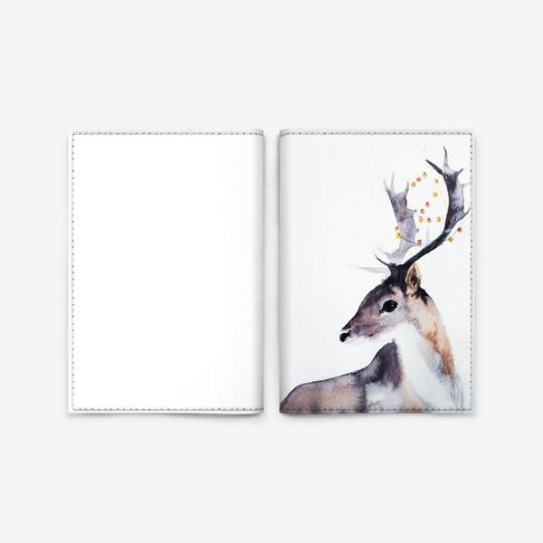 Обложка для паспорта «Новогодний олень»