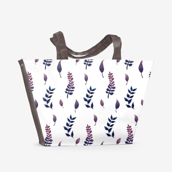 Пляжная сумка «Акварельный листопад.»