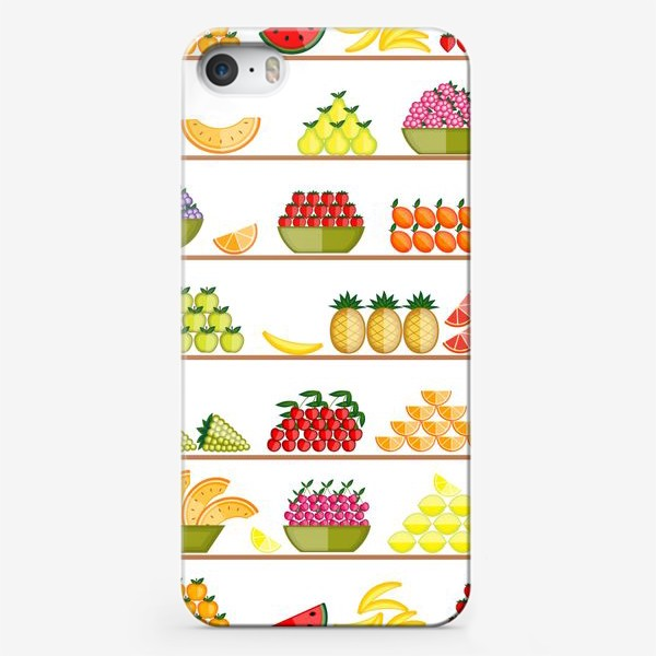 Чехол iPhone «Fruits seamless»