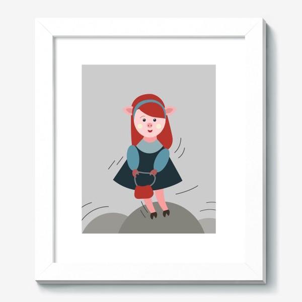 Картина «Рыжая свинка в платье»