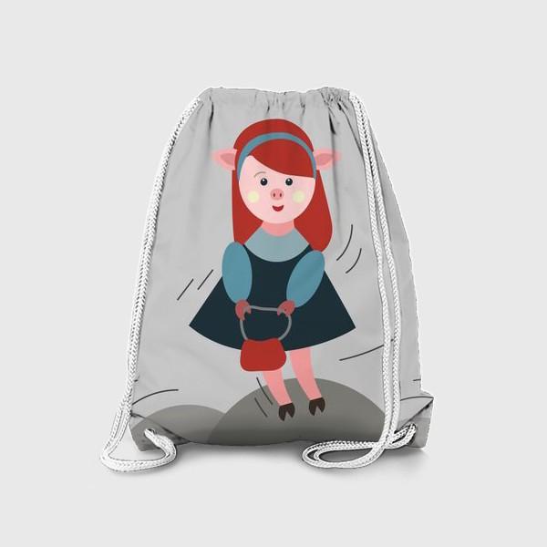 Рюкзак «Рыжая свинка в платье»