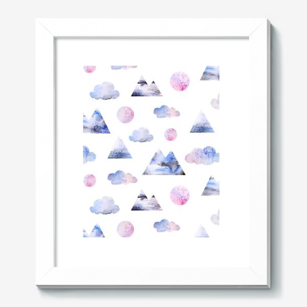Картина «Паттерн Горы, облака, луна»