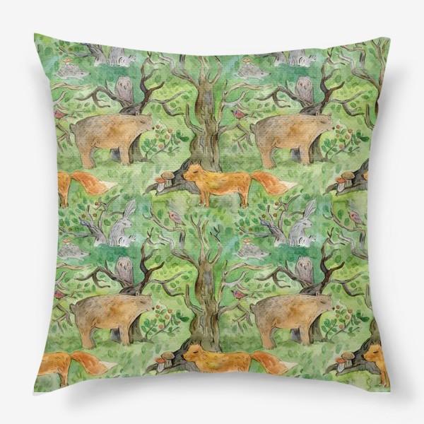 Подушка «Лес. Лесные обитатели. »