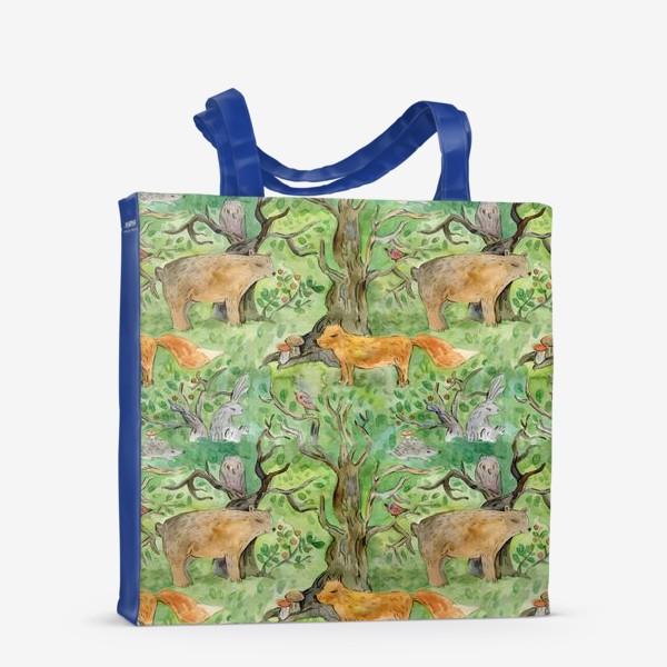Сумка-шоппер «Лес. Лесные обитатели. »