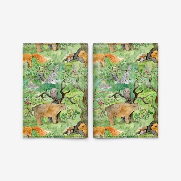 Обложка для паспорта «Лес. Лесные обитатели. »