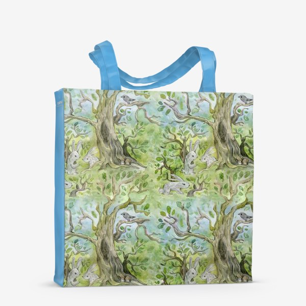 Сумка-шоппер «Лес. Зайцы в лесу»