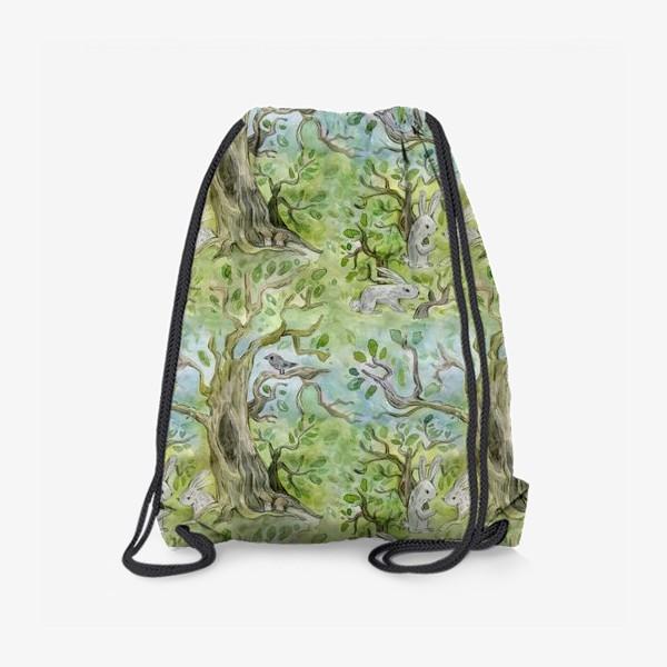 Рюкзак «Лес. Зайцы в лесу»