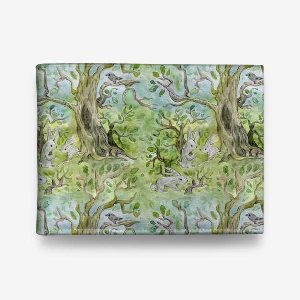 Кошелек «Лес. Зайцы в лесу»