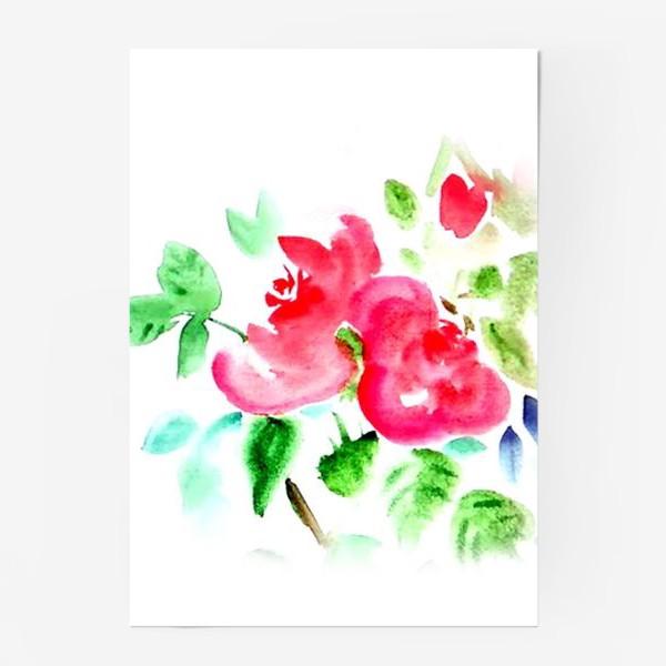Постер «Китайские розы»