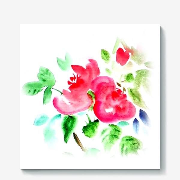 Холст «Китайские розы»