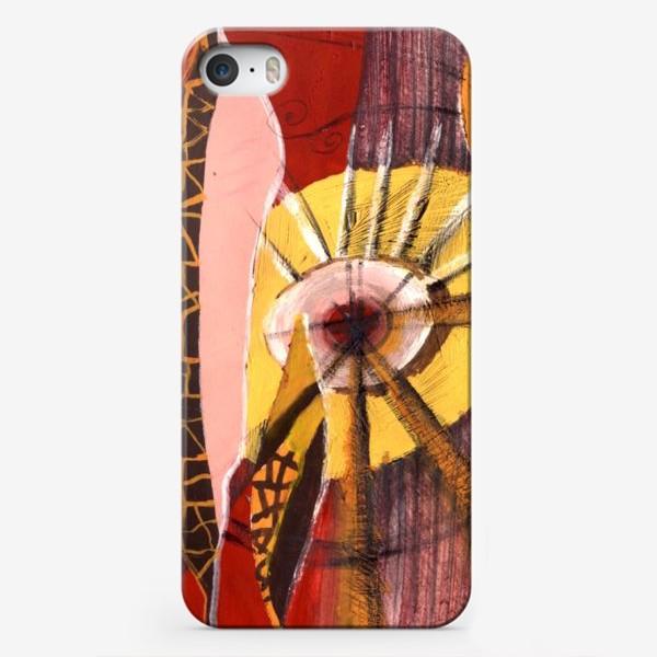 Чехол iPhone «pink leaves»