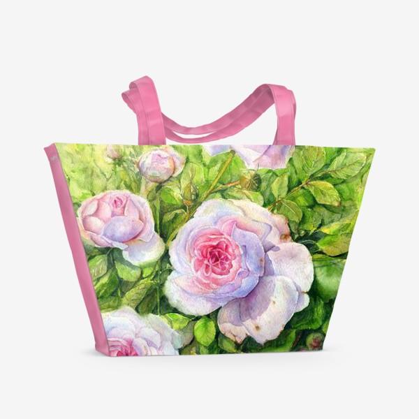 Пляжная сумка «Розовый куст»