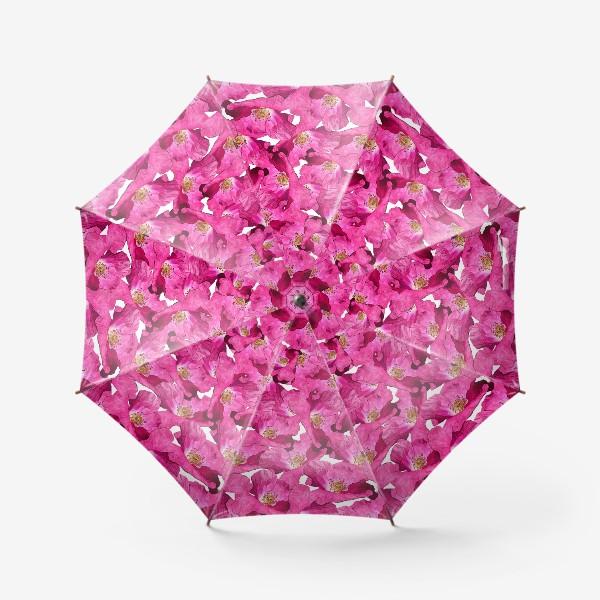 Зонт «Цветочный паттерн.Маки.»