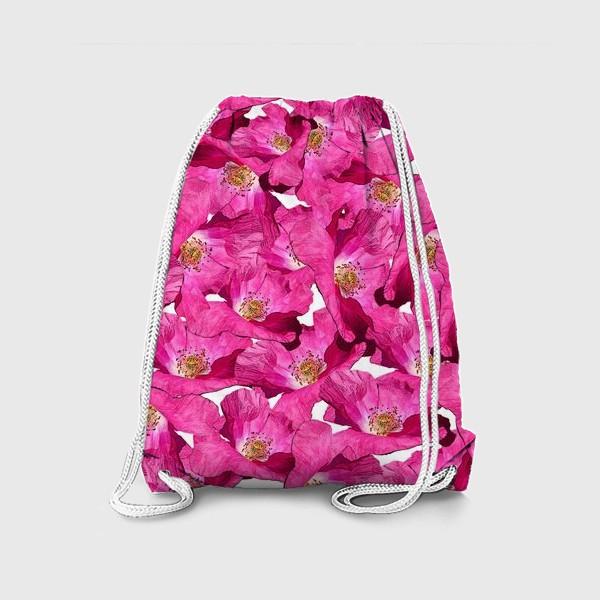 Рюкзак «Цветочный паттерн.Маки.»
