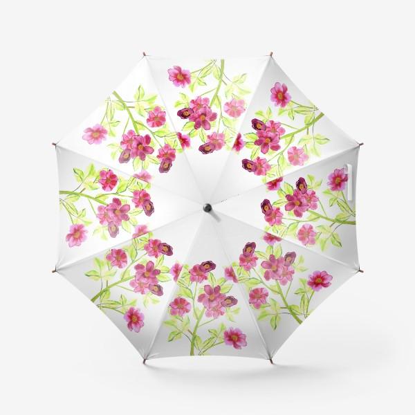 Зонт «букетик пионов»