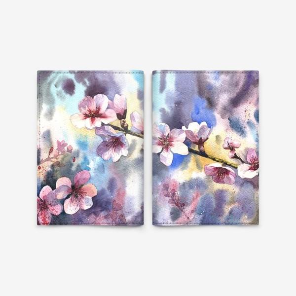 Обложка для паспорта «Цветущий миндаль»