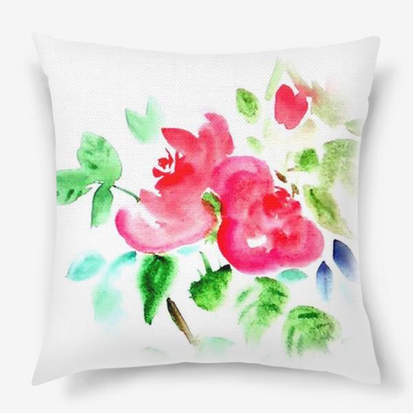 Подушка «Китайские розы»