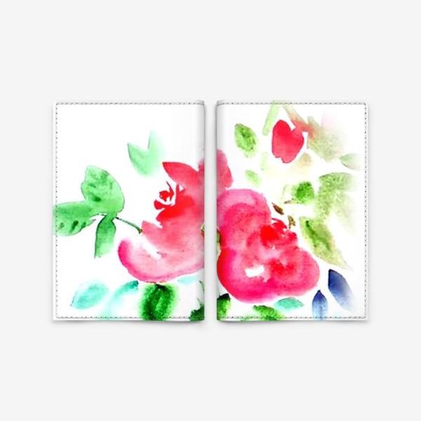 Обложка для паспорта «Китайские розы»