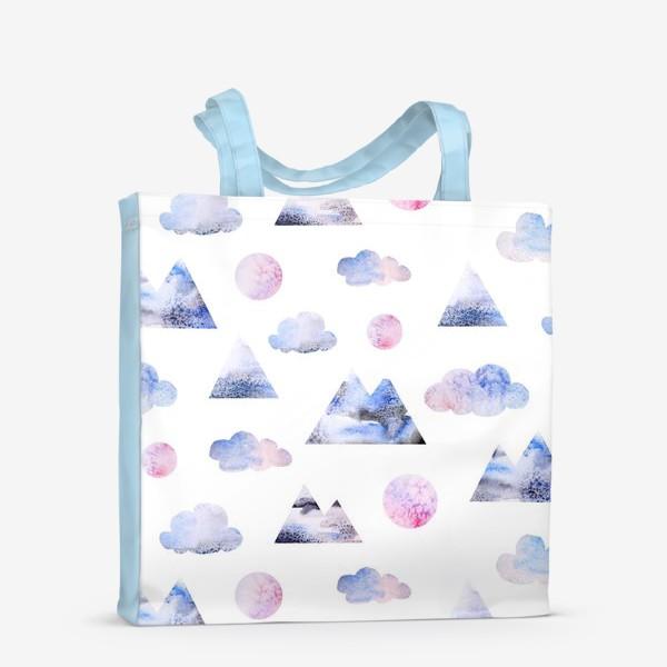 Сумка-шоппер «Паттерн Горы, облака, луна»