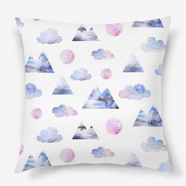 Подушка «Паттерн Горы, облака, луна»