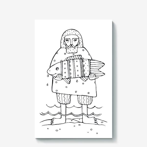 Холст «рыбак»