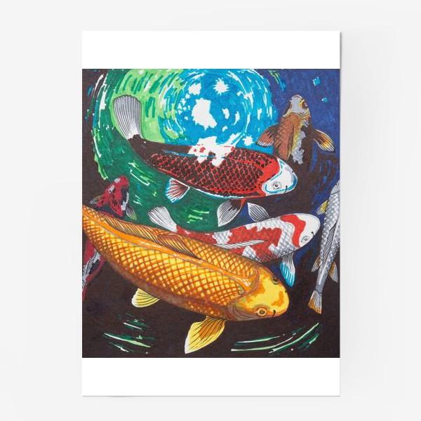 Постер «Карпы кои»