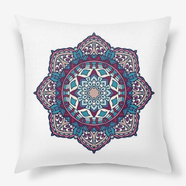 Подушка «Мандала. Орнаментальный декоративный узор.»